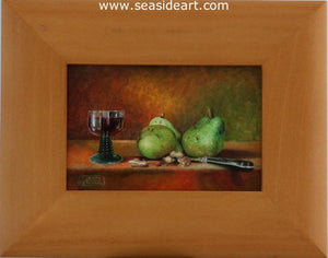 Pears, Peanuts and a Glass of Wine