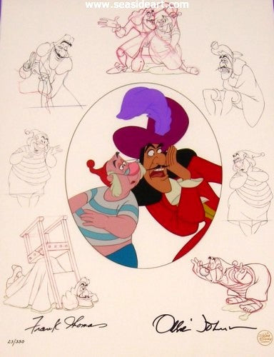 Peter Pan – Capt. Hook & Mr. Smee by Walt Disney Studios - Seaside Art Gallery
