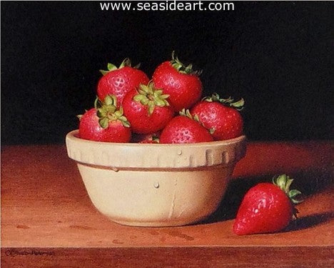 Antique Bowl with Strawberries