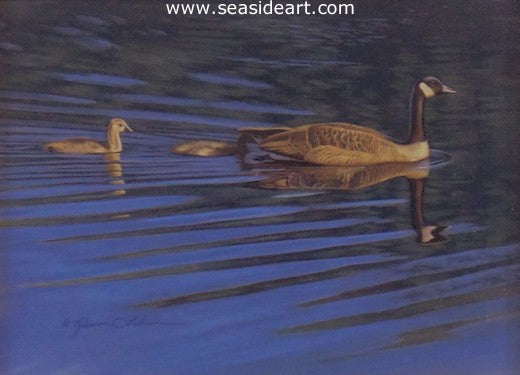 Pond Crossing – Canada Geese by Rebecca Latham - Seaside Art Gallery