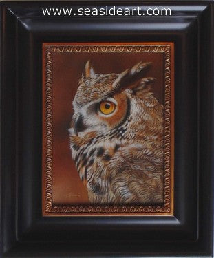 Profiled-Great Horned Owl by Rebecca Latham - Seaside Art Gallery