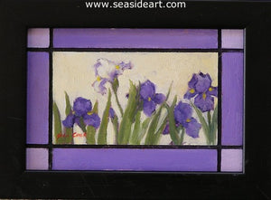Purple Iris #3 by Jean Cook - Seaside Art Gallery