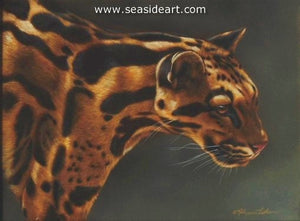 Warm Intensity-Clouded Leopard by Rebecca Latham - Seaside Art Gallery