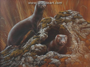 Ready For Autumn-Ermine by Rebecca Latham - Seaside Art Gallery