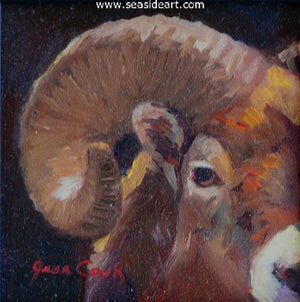 Ram's Horn by Jean Cook - Seaside Art Gallery