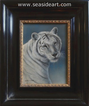 Stoic-White Tiger I by Rebecca Latham - Seaside Art Gallery