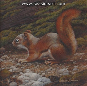Finesse II-Red Squirrel by Rebecca Latham - Seaside Art Gallery