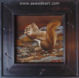 Trailside Visitor I-Red Squirrel by Rebecca Latham - Seaside Art Gallery