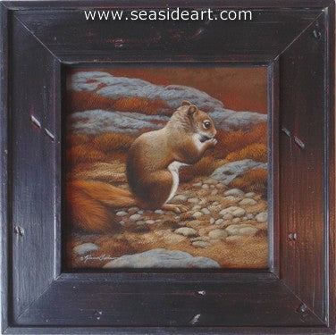 Trailside Visitor II-Red Squirrel by Rebecca Latham - Seaside Art Gallery