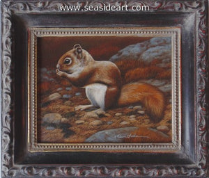Trailside Visitor III-Red Squirrel by Rebecca Latham - Seaside Art Gallery