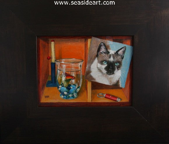 Siamese Squared by Debra Keirce - Seaside Art Gallery