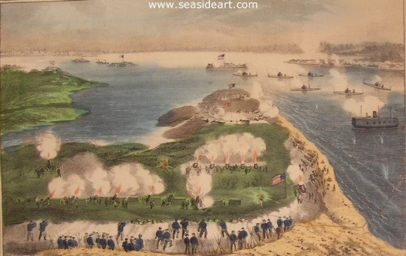 Siege of Charleston by Currier & Ives - Seaside Art Gallery