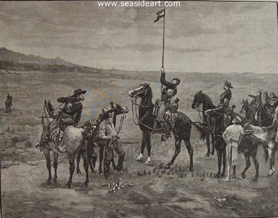 Signalling the Main Command by Frederic Sackrider Remington - Seaside Art Gallery