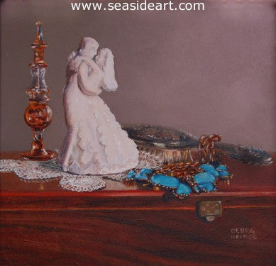 Something Borrowed, Something Blue by Debra Keirce - Seaside Art Gallery
