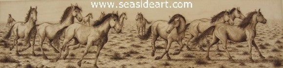 Stampede II by David Hunter - Seaside Art Gallery
