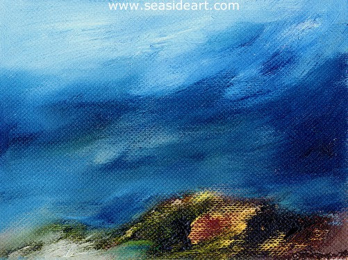The Edge of Mount Sinai in Winter by Liat Polotsky - Seaside Art Gallery