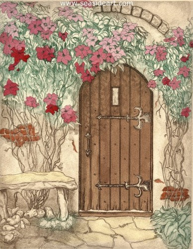 The Garden Door by Carolyn A. Cohen - Seaside Art Gallery