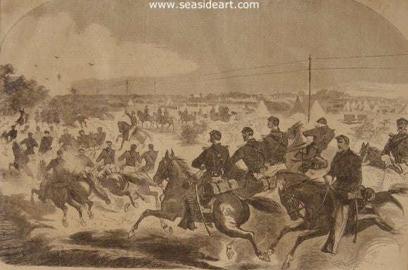 The Union Calvary & Artillery Starting in Pursuit… by Winslow Homer - Seaside Art Gallery