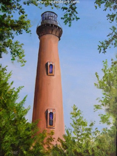 Through The Trees by Libby Eckert - Seaside Art Gallery