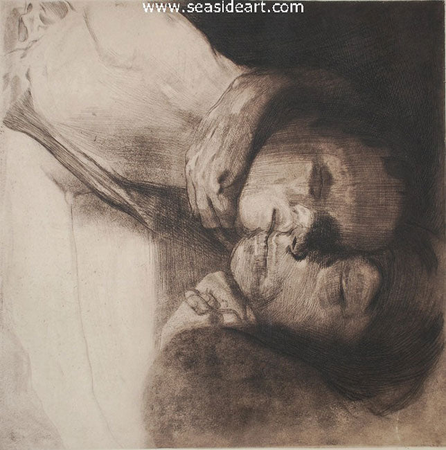 Tod, Frau und Kind (Death, Woman & Child) by Kathe Kollwitz - Seaside Art Gallery