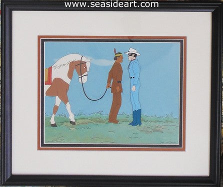 Tonto and Lone Ranger by Other Animation Studios - Seaside Art Gallery