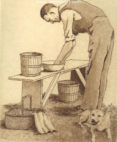 Washing Up by David Hunter - Seaside Art Gallery