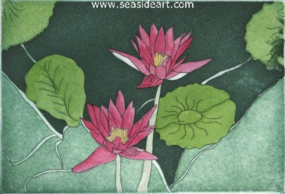 Water Lily Fantasie I by Carolyn A. Cohen - Seaside Art Gallery