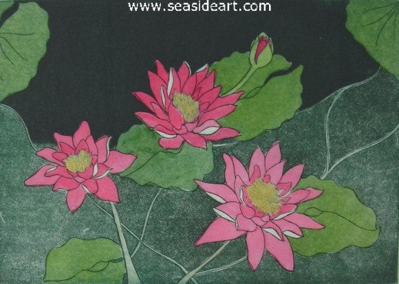Water Lily Fantasie II by Carolyn A. Cohen - Seaside Art Gallery