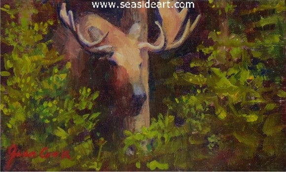Alaska Moose by Jean Cook - Seaside Art Gallery