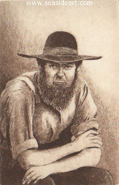 Amish Man by David Hunter - Seaside Art Gallery