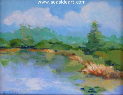 A Quiet Spot by Janet Groom Pierce - Seaside Art Gallery