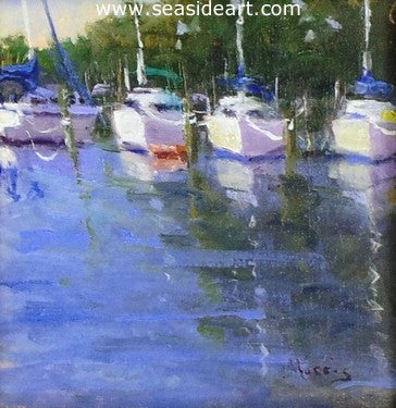 At Mooring by Suzanne Morris - Seaside Art Gallery