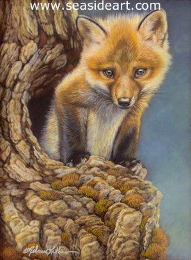 Attentive (Red Fox) by Rebecca Latham - Seaside Art Gallery