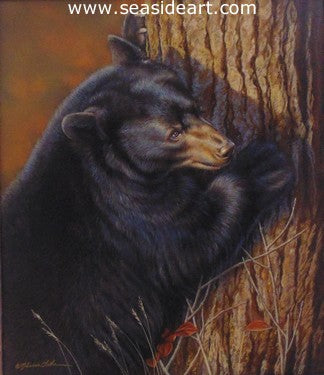 Autumn Glory (Black Bear) by Rebecca Latham - Seaside Art Gallery