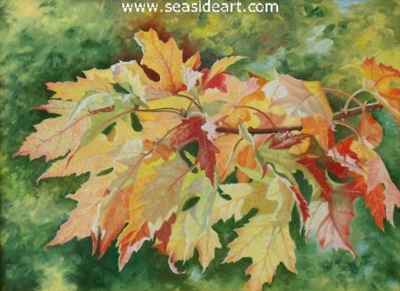 Autumn Maple Leaf by Beverly Abbott - Seaside Art Gallery