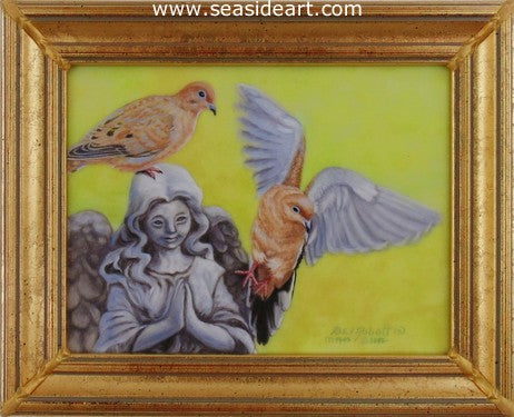 On A Wing & A Prayer, Doves by Beverly Abbott - Seaside Art Gallery