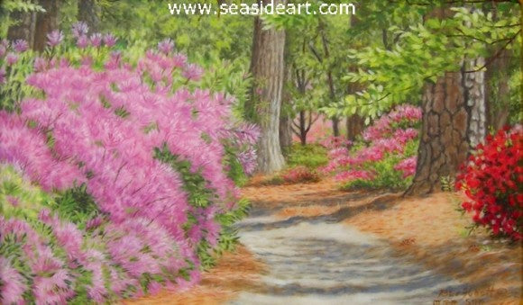 Azalea Gardens by Beverly Abbott - Seaside Art Gallery