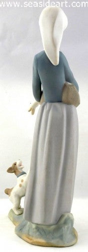 Girl With Duck & Dog by Lladro - Seaside Art Gallery
