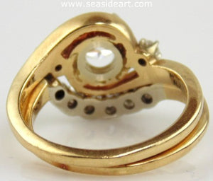 Diamond Engagement Set 14kt Two Tone Gold by Jewelry - Seaside Art Gallery