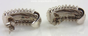 Diamond Earrings 14kt White Gold by Jewelry - Seaside Art Gallery