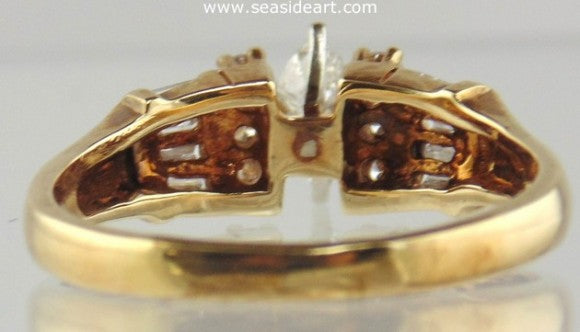Diamond Ring 14kt Two Tone Gold by Jewelry - Seaside Art Gallery