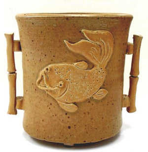 Bamboo Vase With Fish by Diane Lee - Seaside Art Gallery