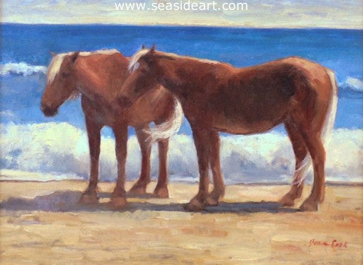 Bankers on the Beach by Jean Cook - Seaside Art Gallery
