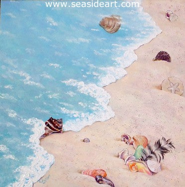 Beachcombing the Outer Banks by Lauri Waterfield - Seaside Art Gallery