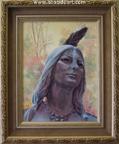 Beads & Feathers-Pocahontas by Catherine Girard - Seaside Art Gallery