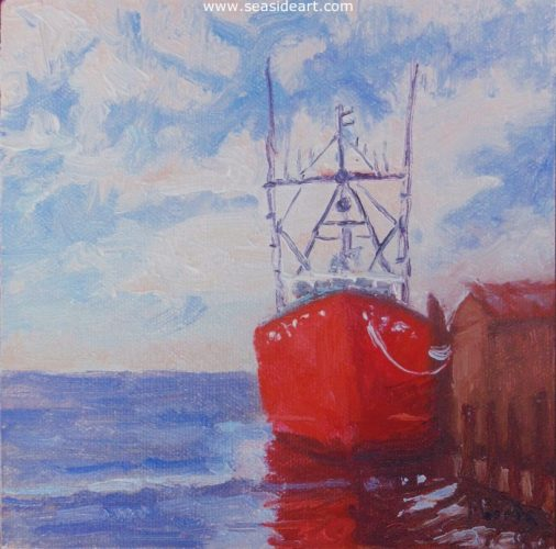 Big Red by Suzanne Morris - Seaside Art Gallery
