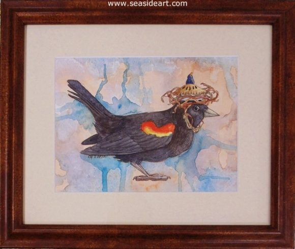Blackbird Pie by E M Corsa - Seaside Art Gallery