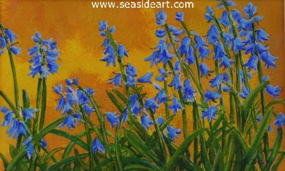 Blue Bells by Jackie Zagon - Seaside Art Gallery