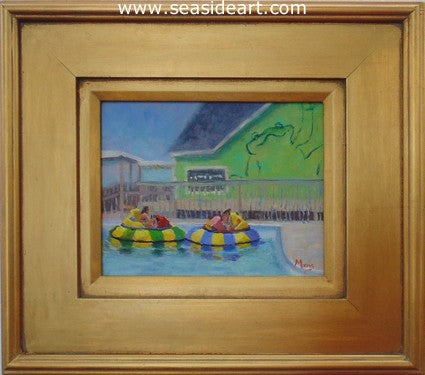 Bumper Boats by Suzanne Morris - Seaside Art Gallery
