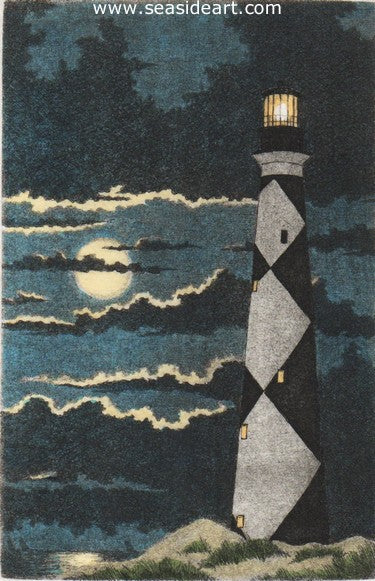 Cape Fear Moon by David Hunter - Seaside Art Gallery